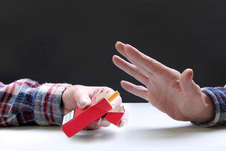 タバコを拒否する